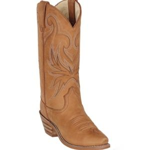 Durango Tan Brown Leather Cowgirl Boots Size 7